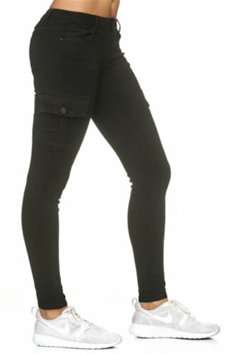 ♥Stretch Hose Stoffhose Zipper Röhre Skinny Leggings Treggings Jeggings Hüfthose