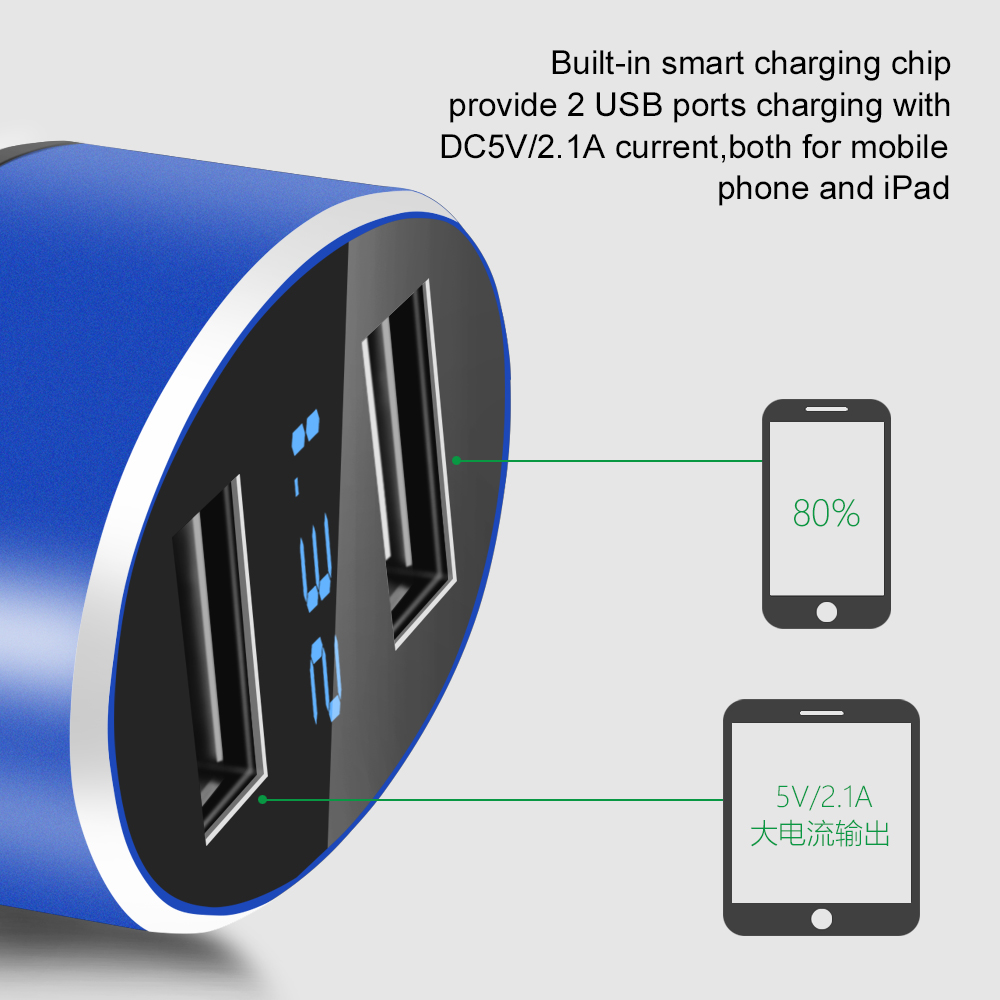 Samsung Cell Phone Car Charger Fast Charging 5V 2.1A /& 1.0A Dual Single 2 Port for iPhone Sony and Other USB Devices RT Electronics Android