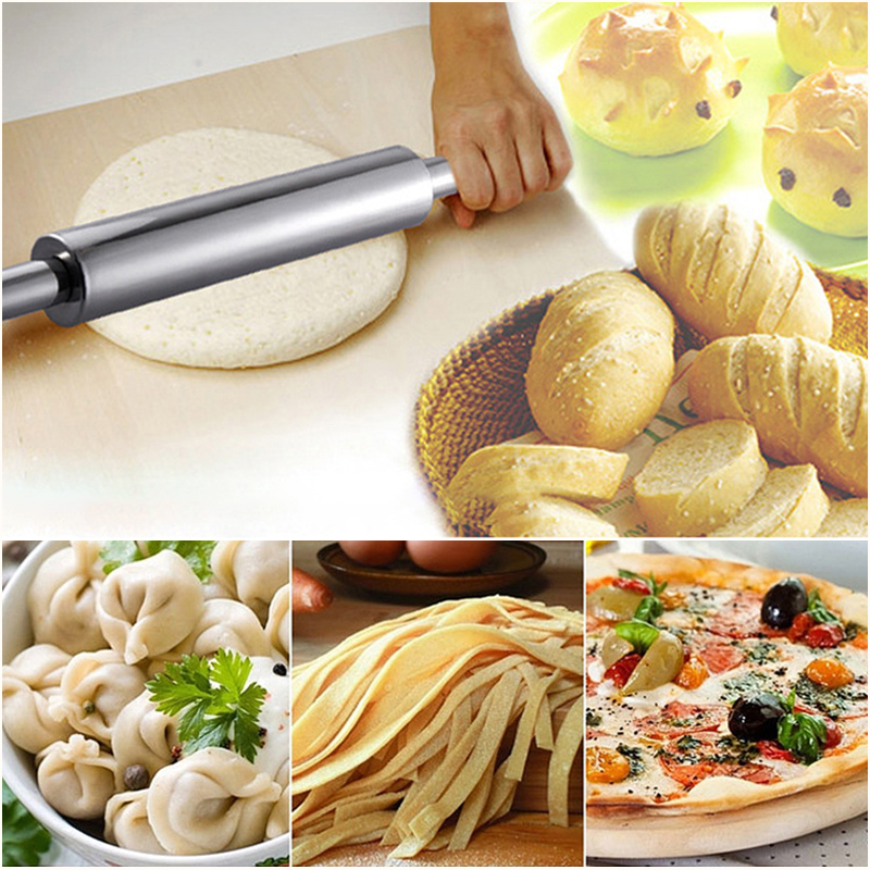 Smooth Kitchen Baking Pie Pizza Gingerbread Pastry Tool Cake Rolling Pin Roller