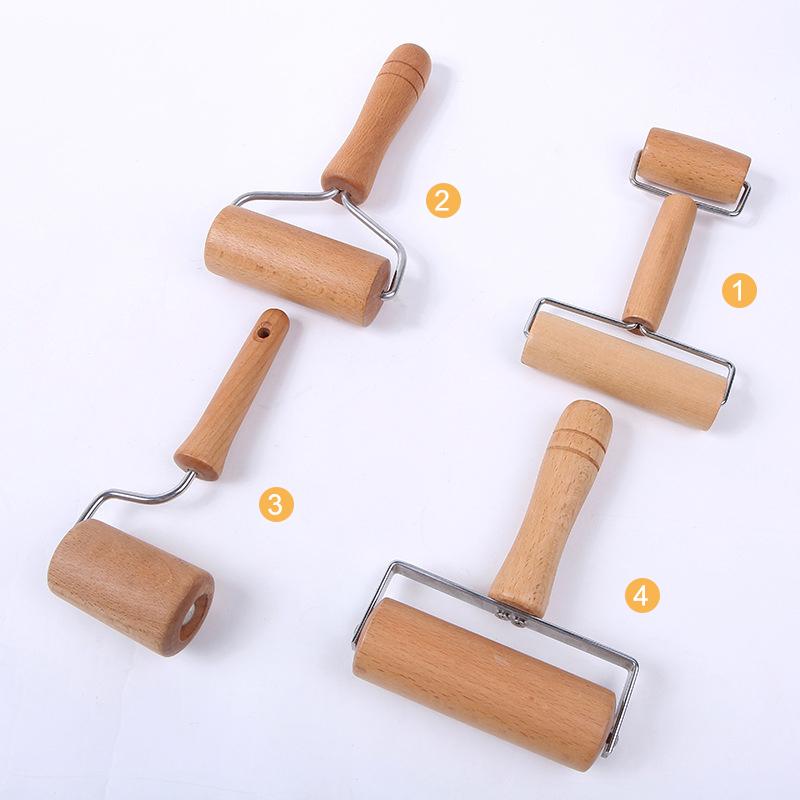 Wood Wooden Rolling Pin Fondant Cake Decorating Dough Roller Baking Tool /&Handle