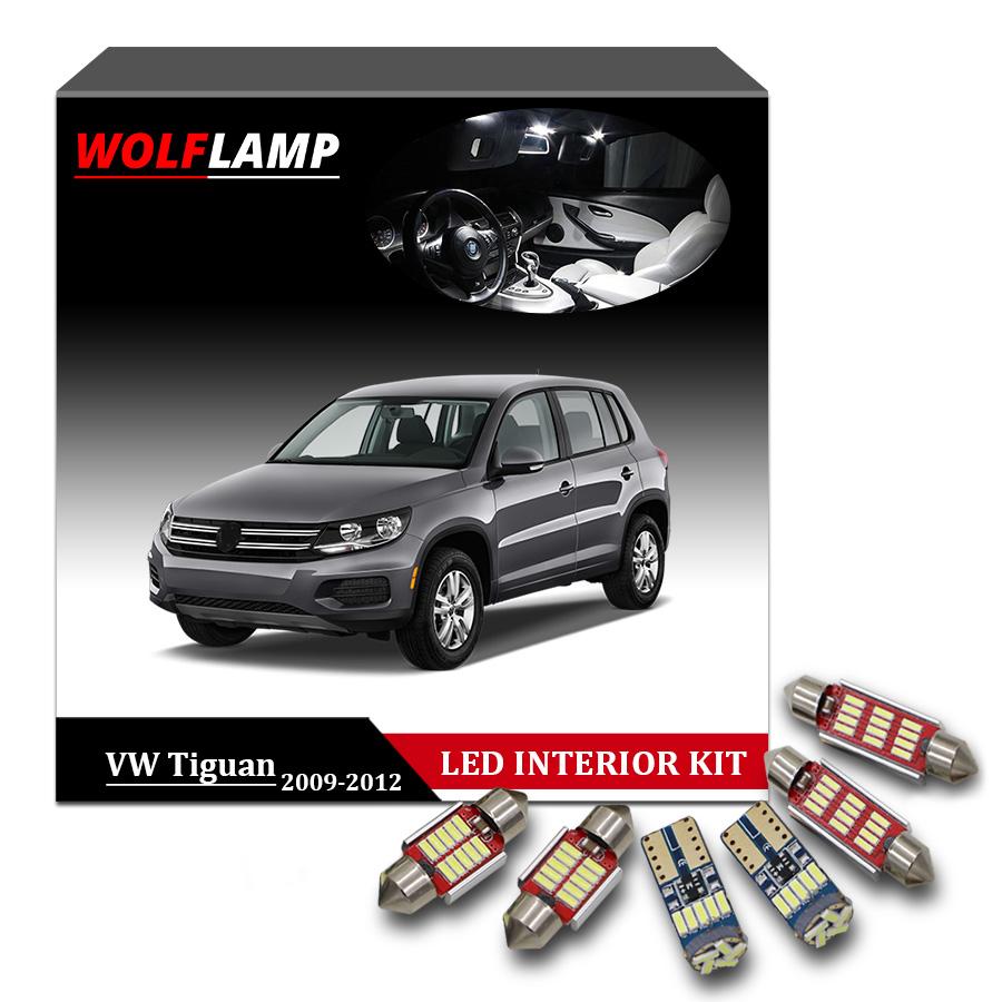 12x LED White Lights Interior Package Kit For 2013-2017 Volkswagen VW Tiguan