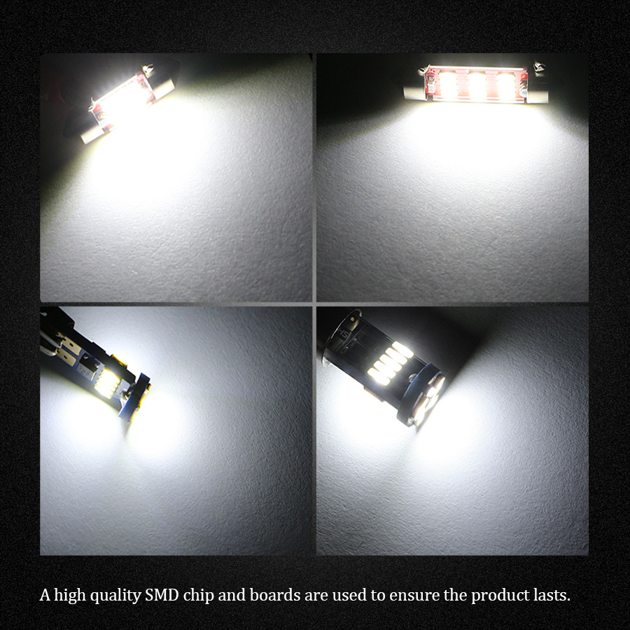 10Pcs White Canbus Bulbs LED Interior Kit Car Lights For