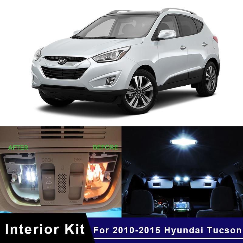 12Pcs White Lamp Package Kit LED Interior Car Light For 2005-2009 Hyundai Tucson