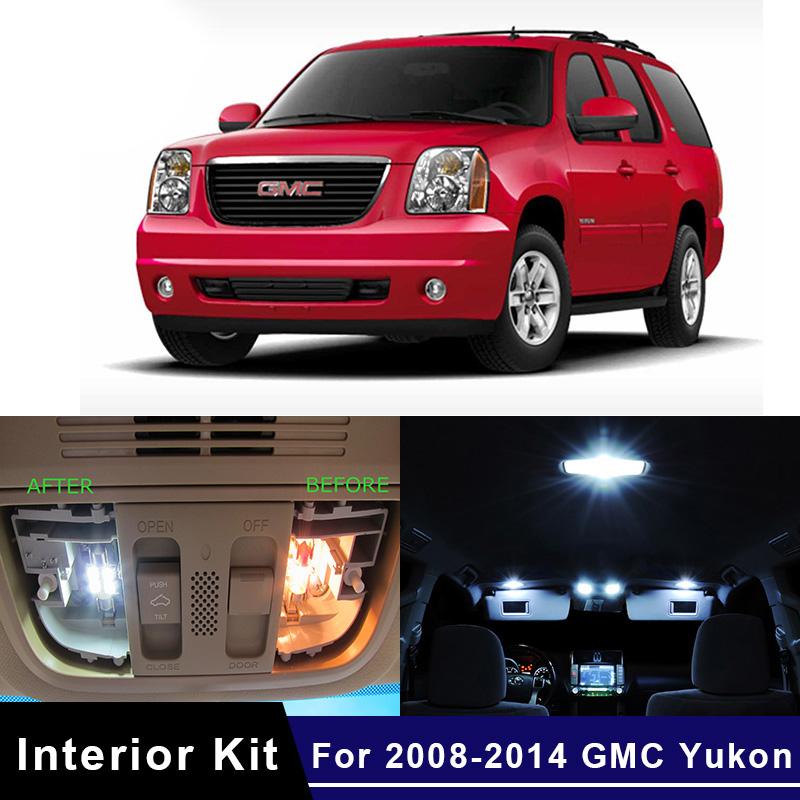 15pcs for GMC Yukon 2001-2006 Bulbs Interior SMD Car LED Package Lights Kit Blue
