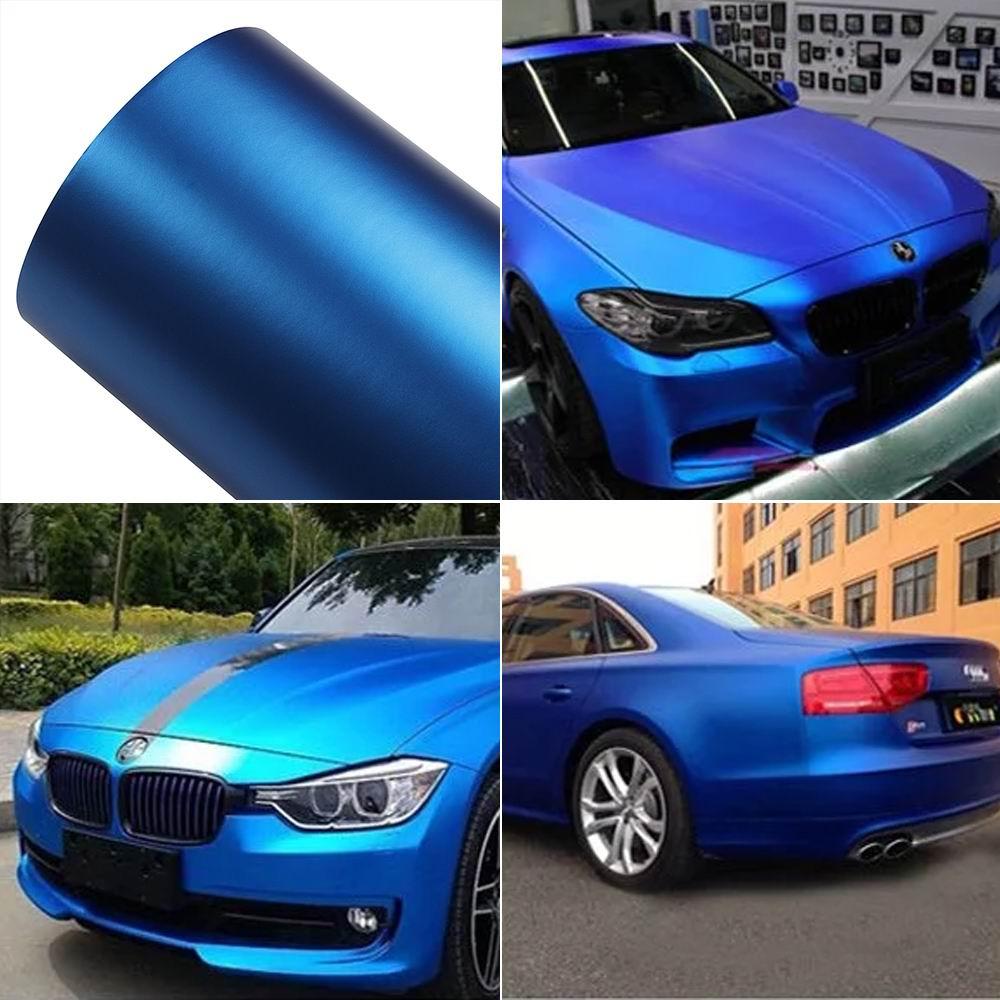 18M*1.52M Car PVC Vinyl Wrap Sticker Decal Film DIY Sheet Stickers Ice Blue