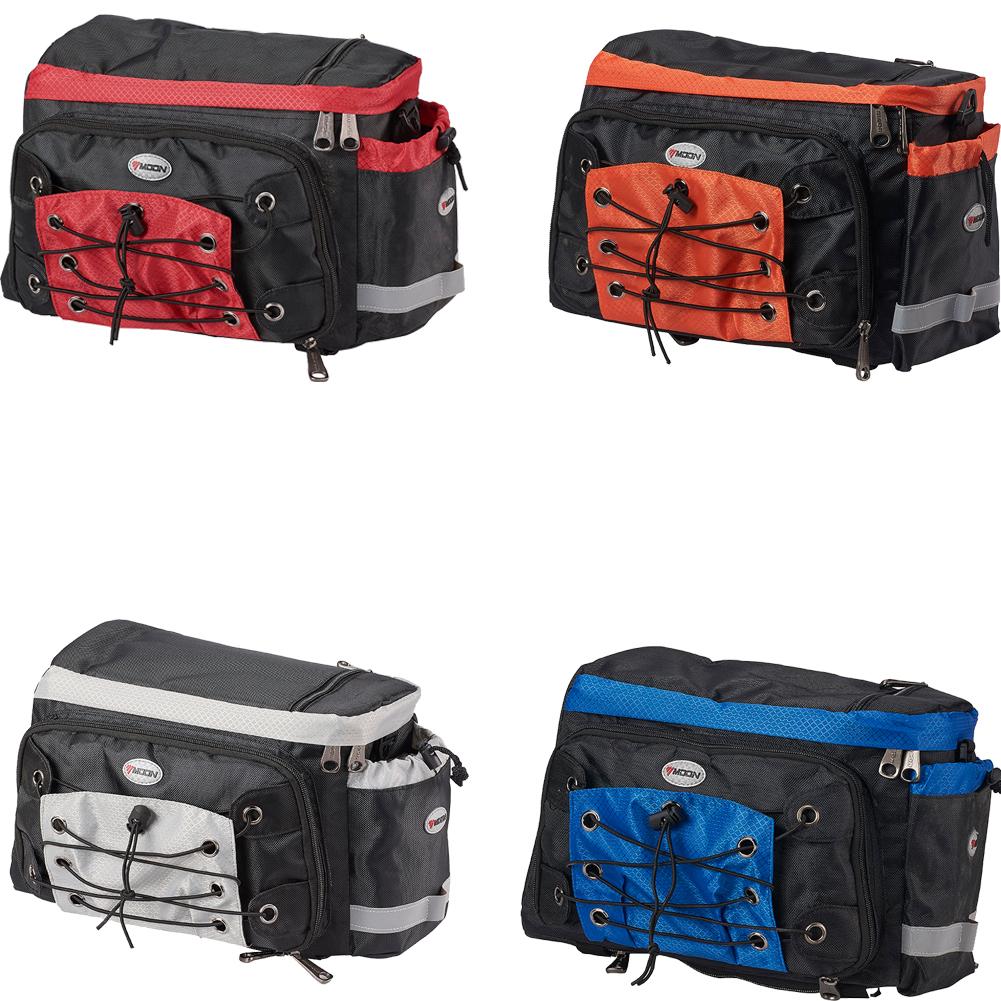 Perfeclan Twin Pannier Bag Bicycle Bike Cycle Double Brown Rear Seat Bag