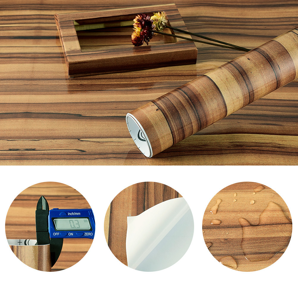 Waterproof Self Adhesive Wood Grain Vinyl Film For Car