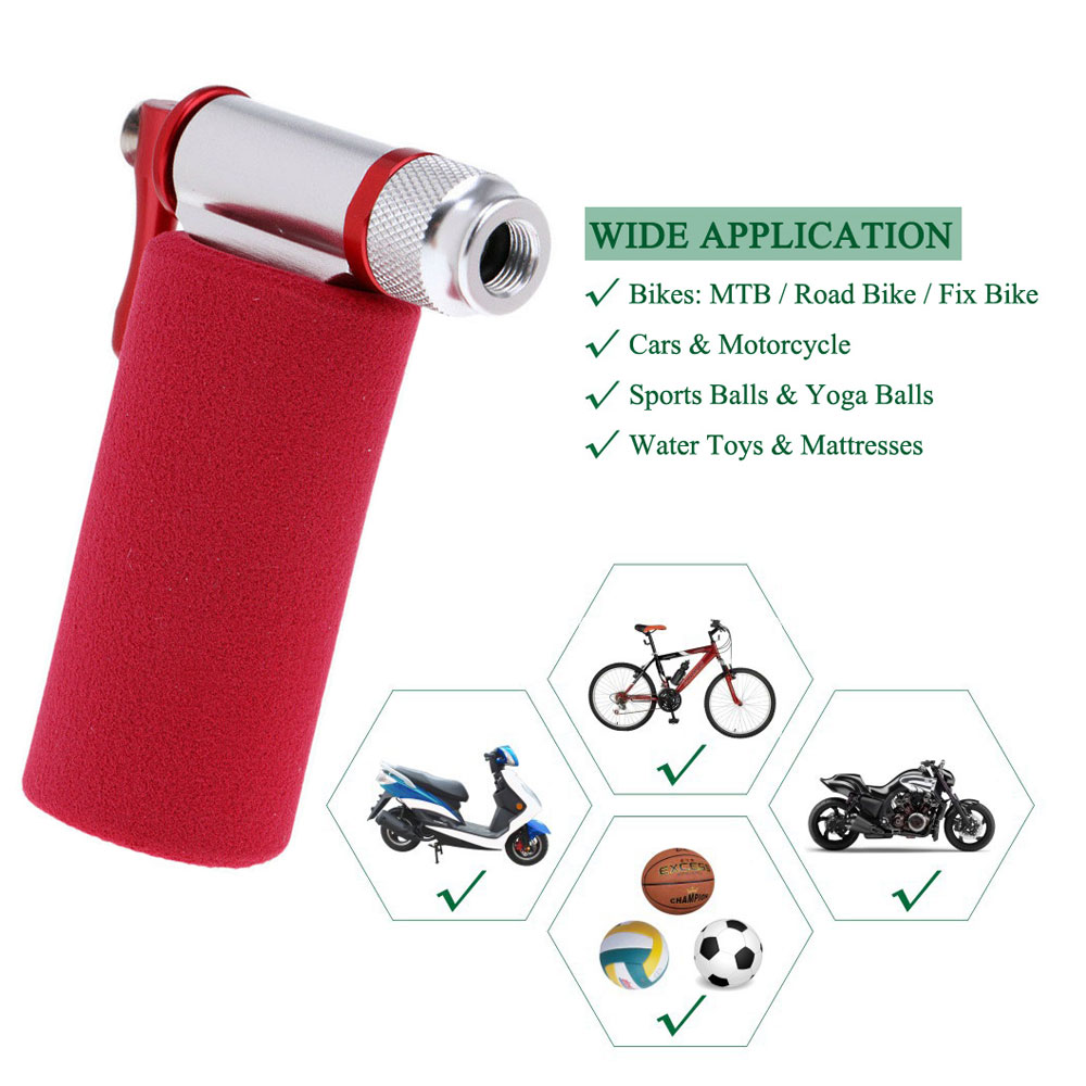 Portable CO2 Bike Tire Inflator Mountain Bicycle Tyre Pump For Presta /& SchraYHY