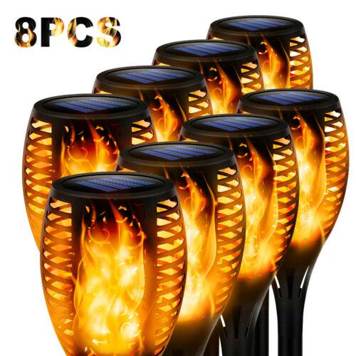 LED Solar Torch Dance Flickering Flame Light Garden Yard Lawn Waterproof Lamp