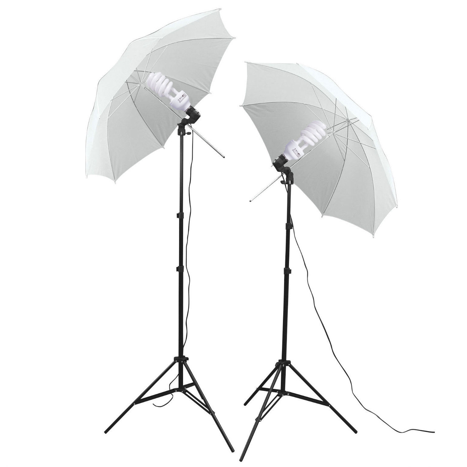 Photography Studio Bulb Lamp Umbrella Light Stand Set