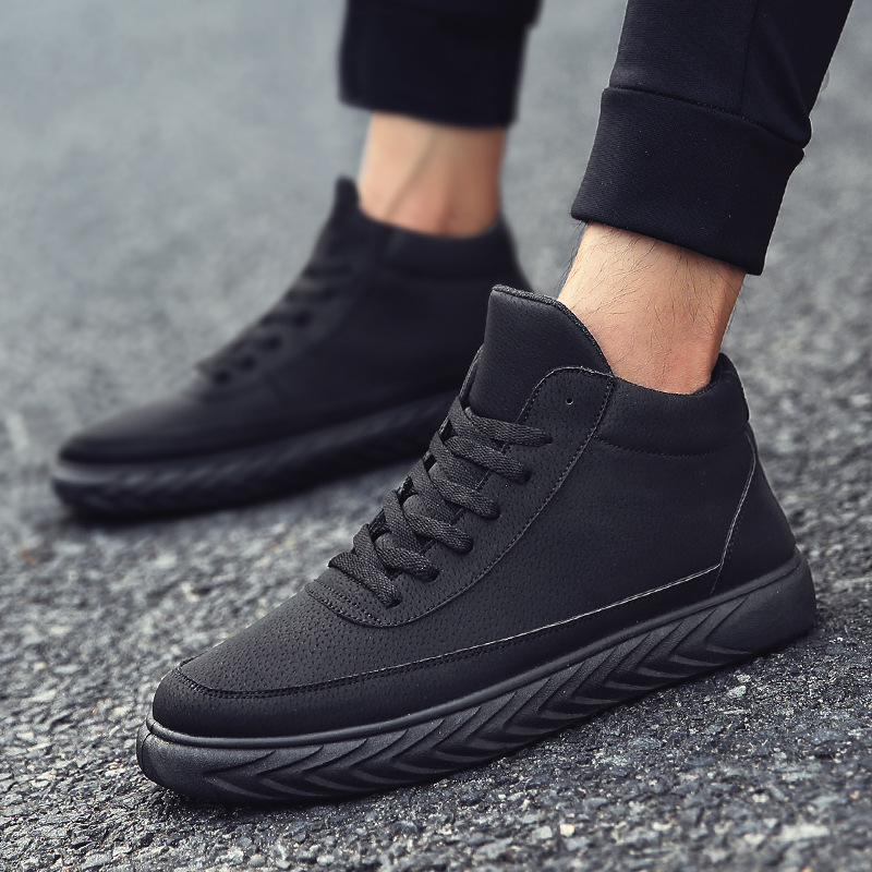 Details about Men's Fashion High Top Sports Shoes School Casual Shoes Outdoor Sneakers Shoes