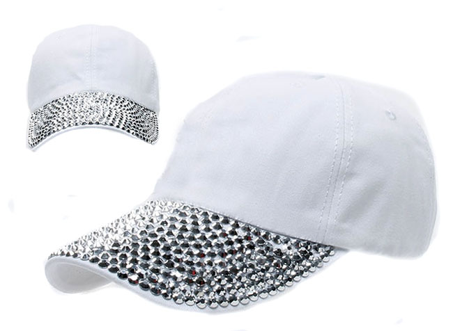 rhinestone studded baseball cap visor denim adjustable tennis hat mom bling hats womens caps