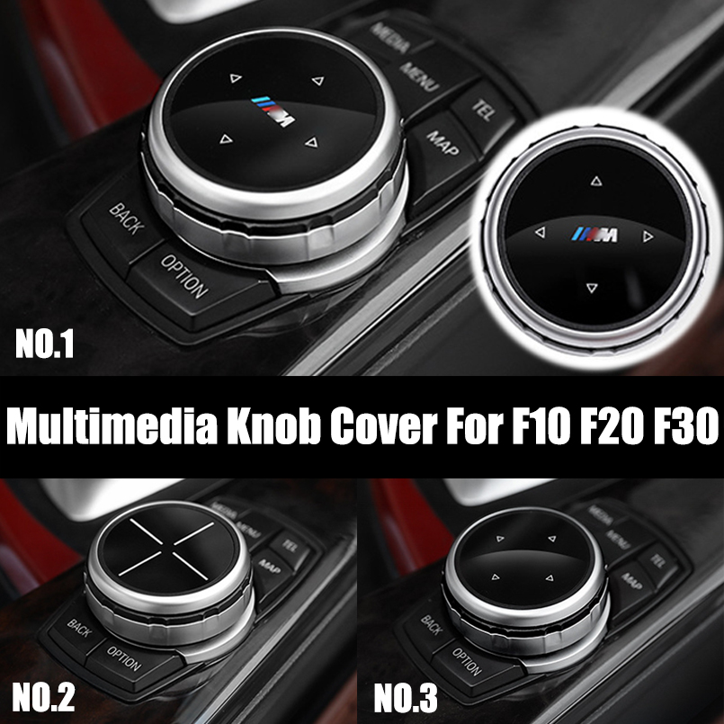For BMW F10 F20 F30 Replacement small Multimedia Knob Cover IDRIVE Button ABS