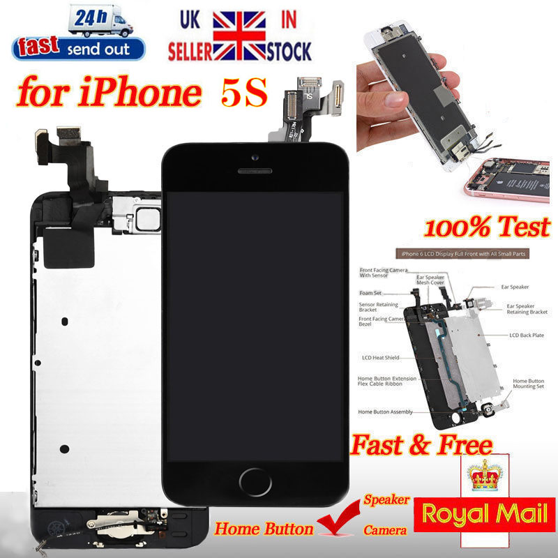 huge selection of f8da5 72593 For iPhone 5S Screen Replacement LCD Display Touch With Home Button ...