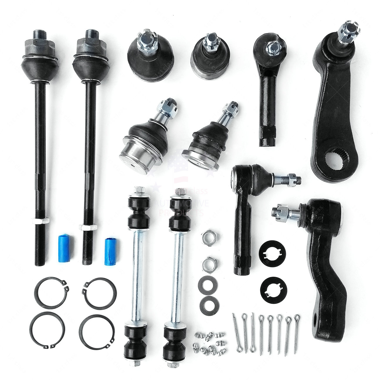 Upper Lower Ball Joint Outer Tie Rod End Idler Pitman Arm Set for Toyota 4WD