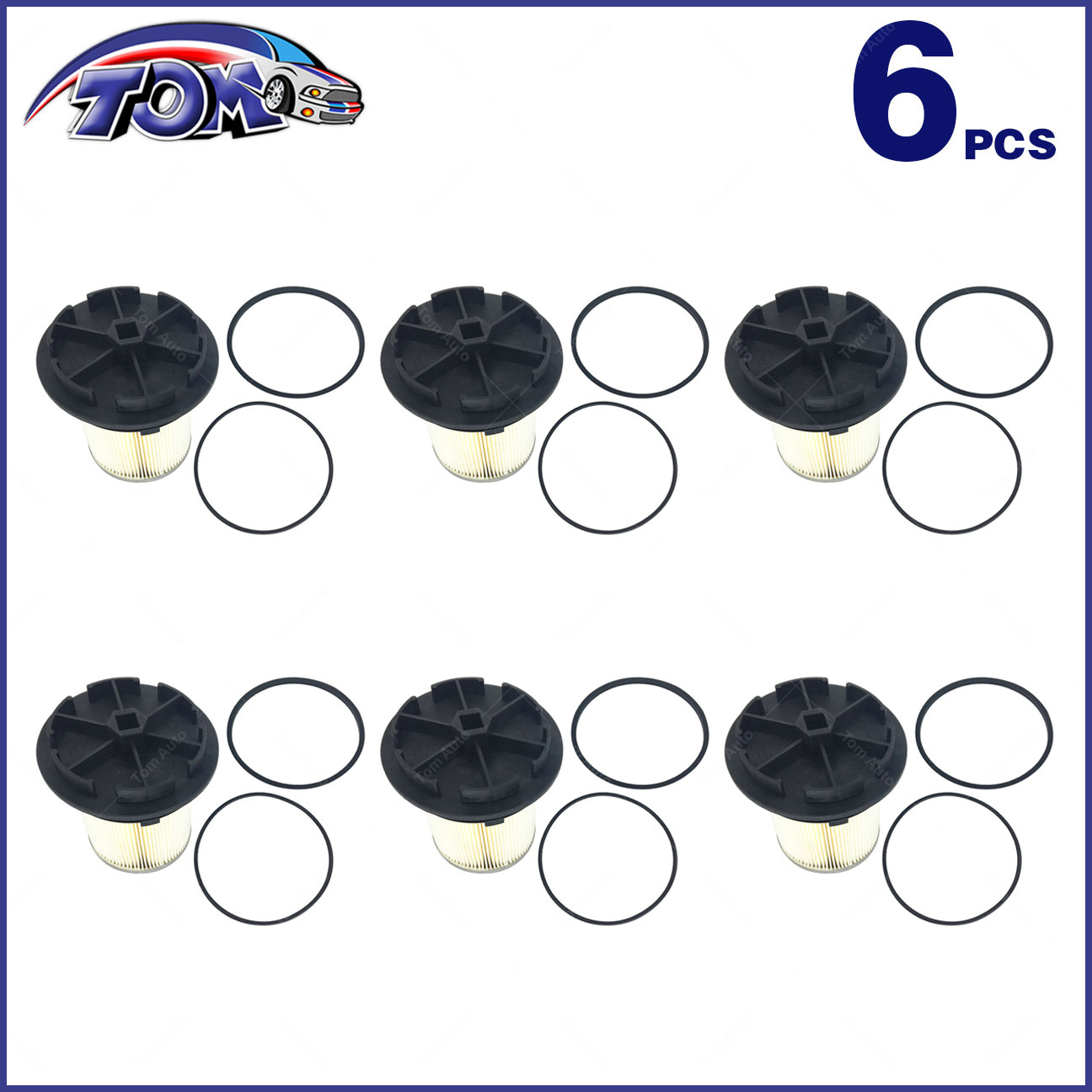 6 Fuel Filters Caps For 94 98 Ford F E Series Super Duty 73l 0 Updated Filter Turbo Diesel