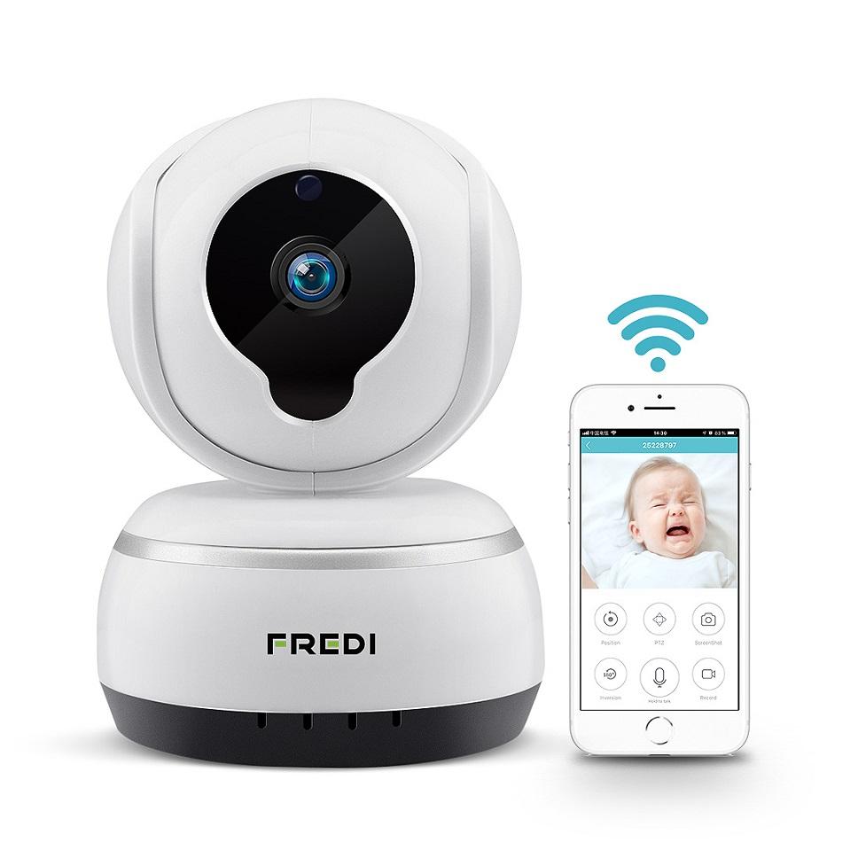 FREDI Baby Monitor Home Security IP Camera 720P Wireless WIFI P2P Nanny Camera