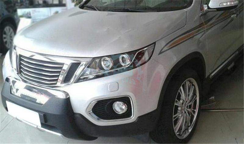 Chromed Auto Front Grilles Car Grill Trim Refit For Kia Sorento 2009 2012 Ebay
