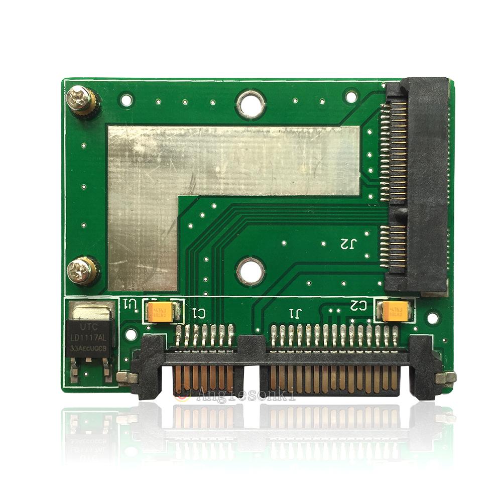 Details About Card Slot 50mm Mini Pci E Msata Ssd Adapter Converter To 2 5 3 Sata Smallest
