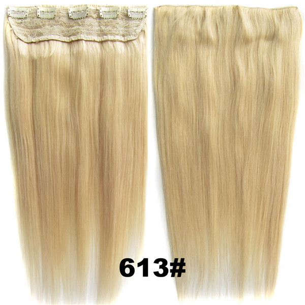 Bado Hair 105g 18''/22'' Clip in Human Hair Extensions Hairpieces One Piece