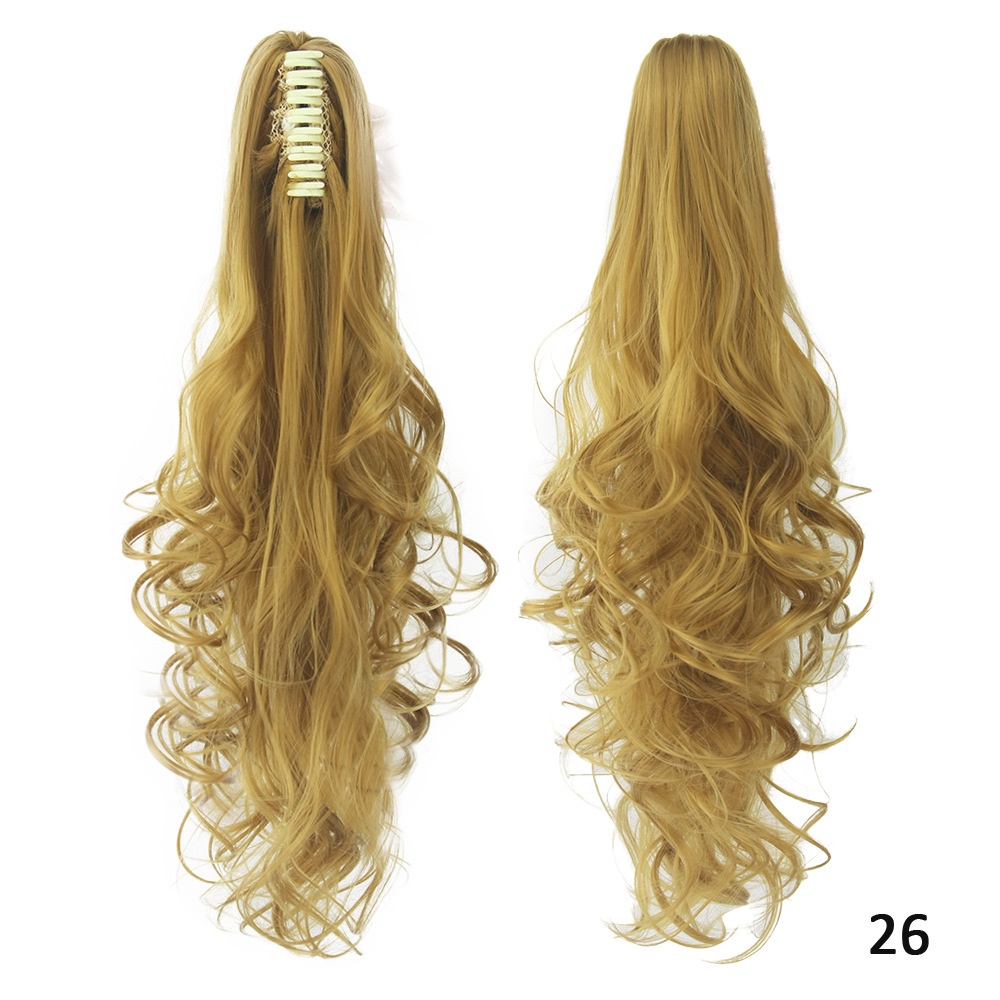 CW Hair  130g 24'' Long Big Wave Claw Clip In Hair Ponytails Hair Extension