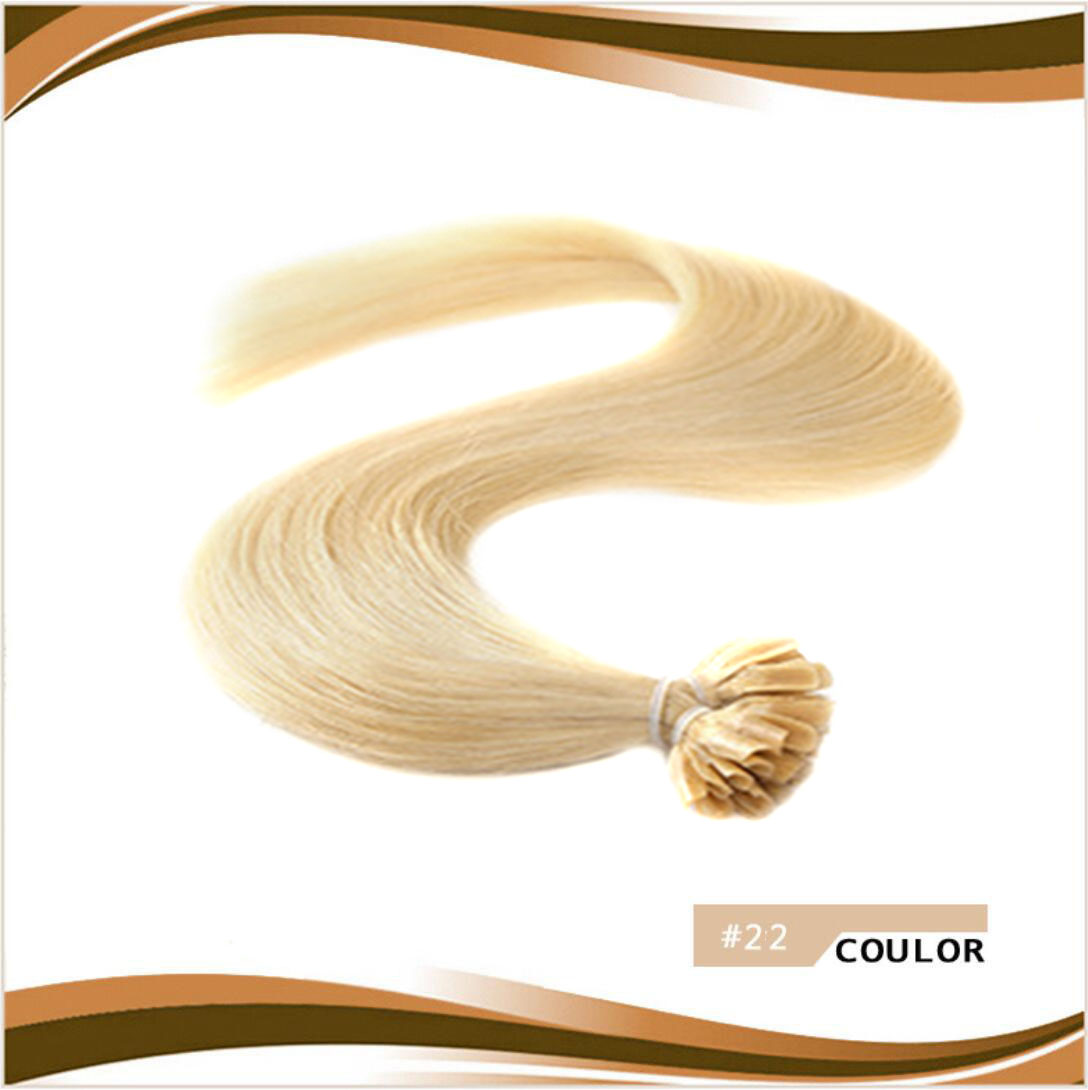 Remy 16 26 Nail U Tip Pre Bonded Human Hair Extensions 051gram