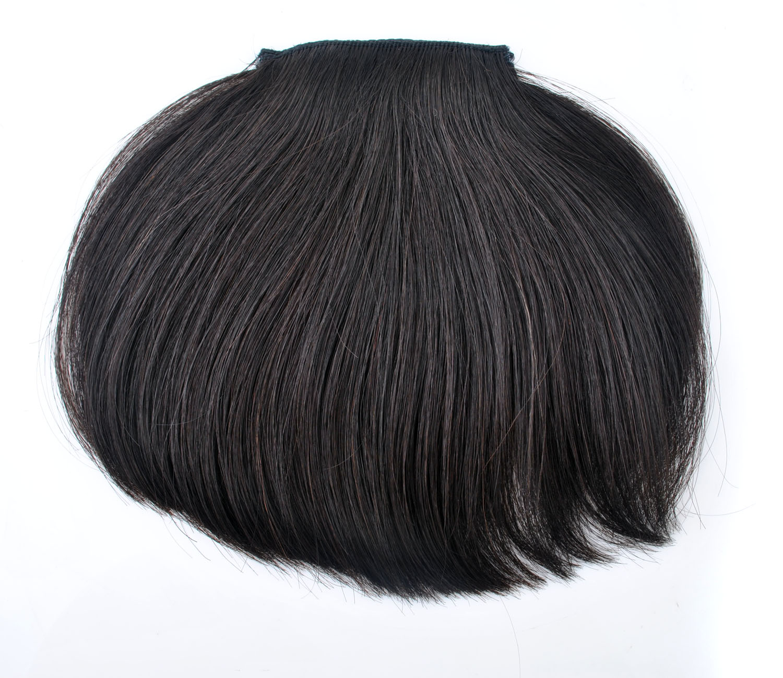 20g Machine Made Natural Virgin Clip In Human Hair Extension Hair
