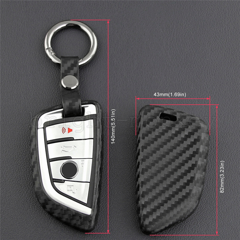 Soft Silicone Black Key Fob Chain Ring Case Cover Fit For