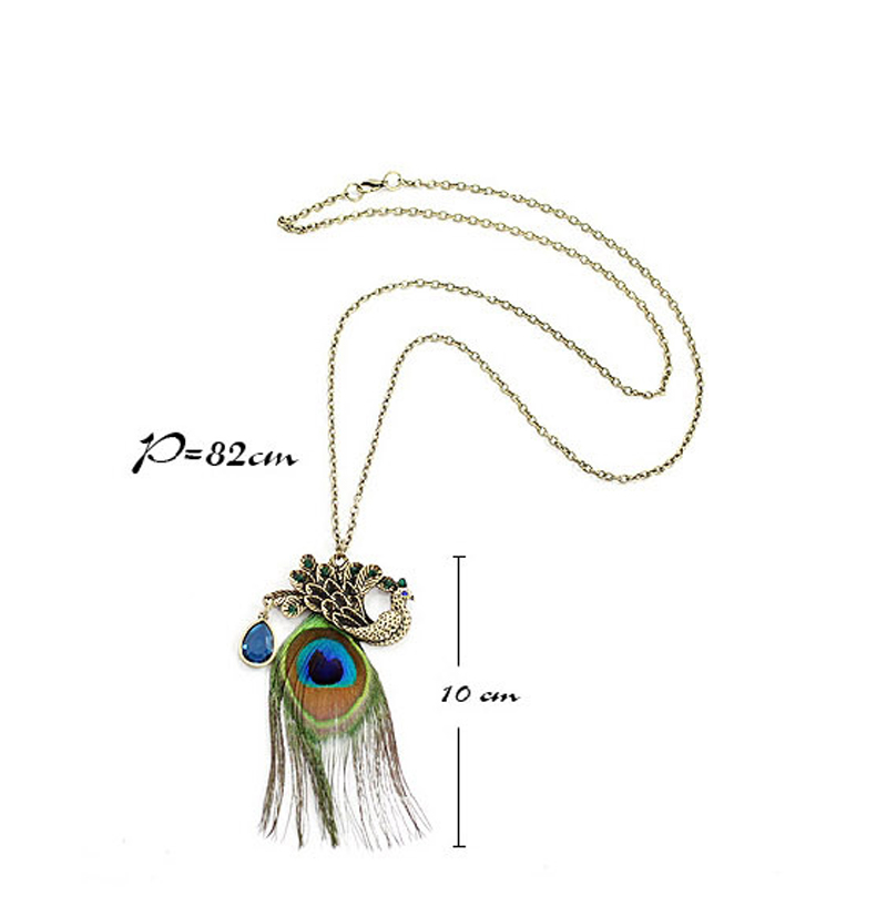 alert shop gold deal feather spartina pendant necklace plated peacock