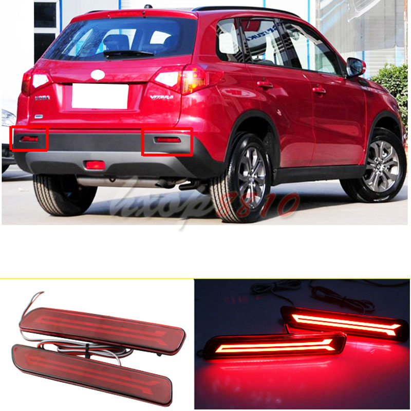 LH rear Bumper Reflector fog lamp light lamps Lens for Suzuki Grand Vitara 2009