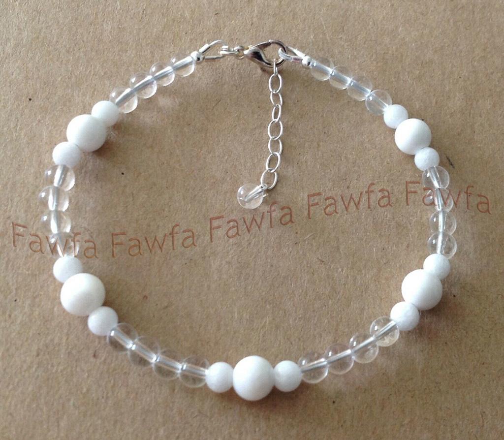 6mm Beautiful Blue Sand Stone Gemstone Round Beads Bracelet 7.5/'/' AAA