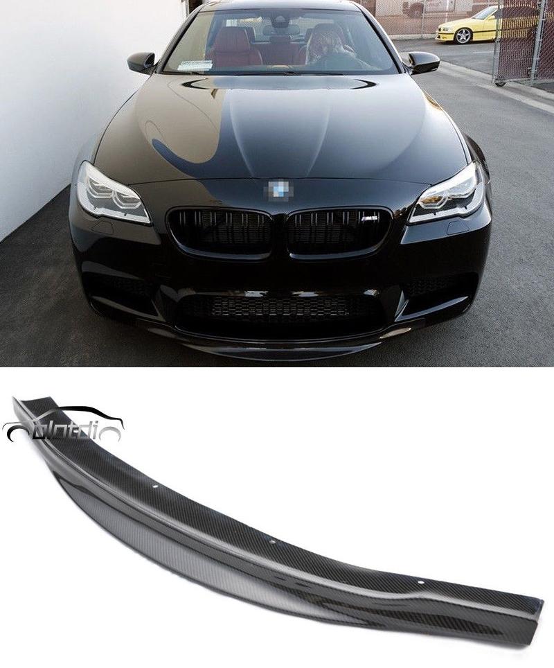 Carbon Fiber R Style Front Bumper Lip Spoiler Splitter for BMW F10 5-Series M5