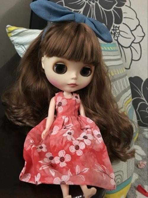 """12/"""" Blythe Doll Factory Blythe/'s Red Lovely Dress+Bowknot"""