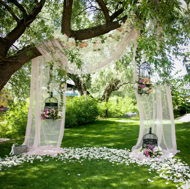 Wedding Decor Trees Flowers Backdrop Background Photo Studio Props