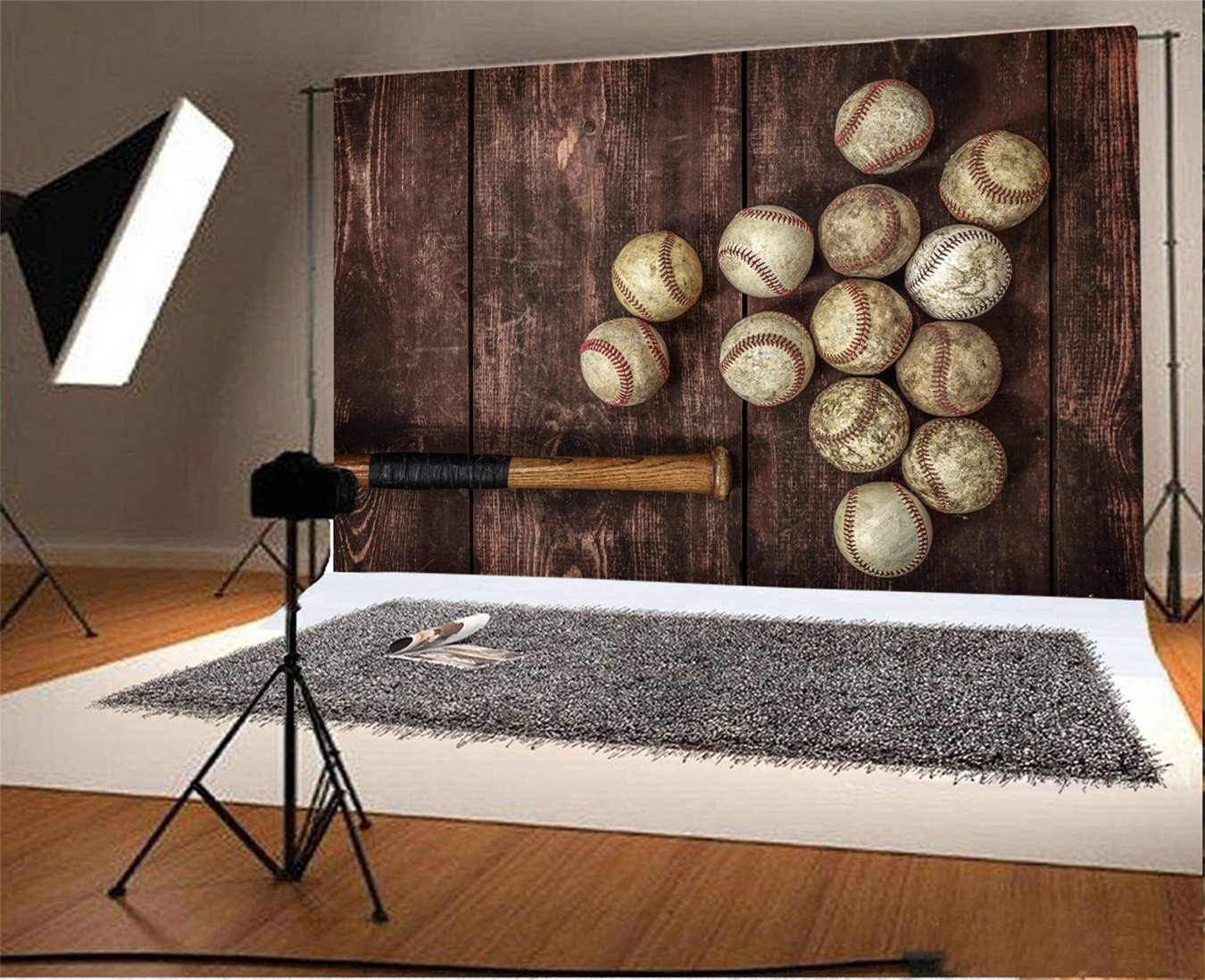 Details About Used Base Bat Wooden Floor Background 9x6ft Athelete Nostalgia Backdrops