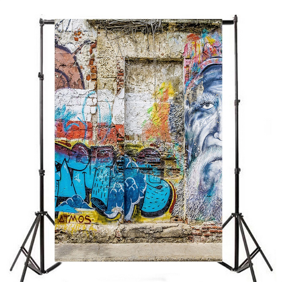 Graffiti wall vinyl - 3x5ft Graffiti Wall Vinyl Photo Background Baby Photography Backdrop Studio Prop