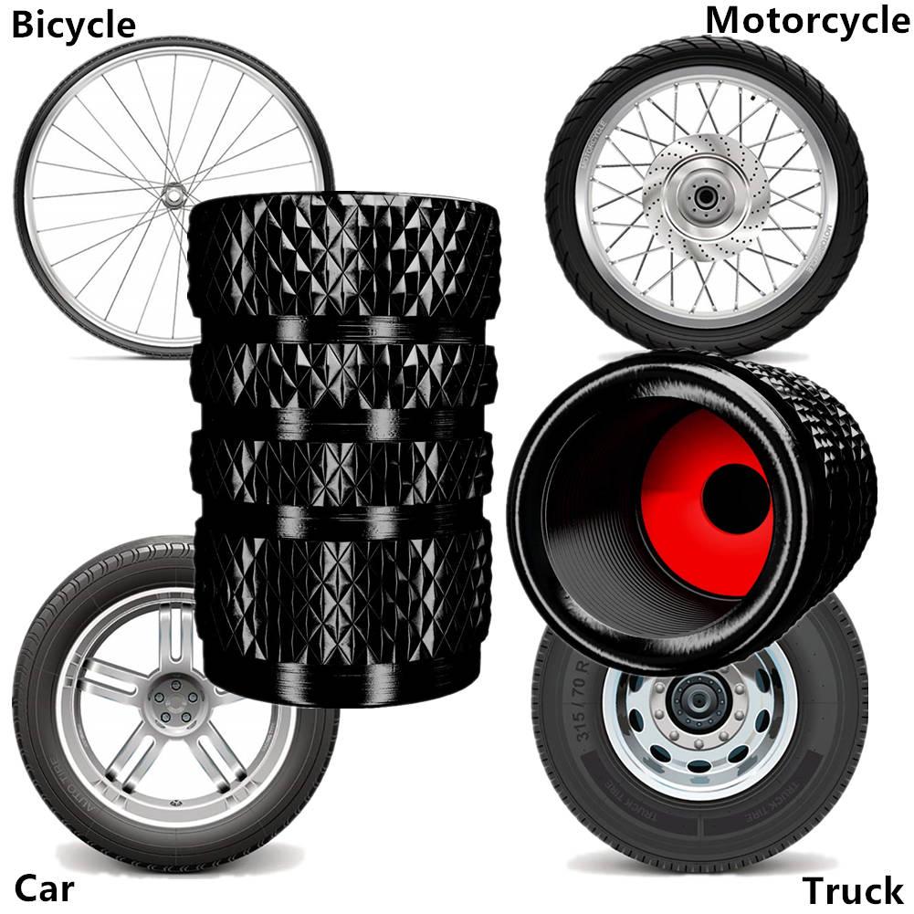5Pcs Aluminum Tire Valve Stem Dust Cap Part Kit for Bicycle Auto Car Truck