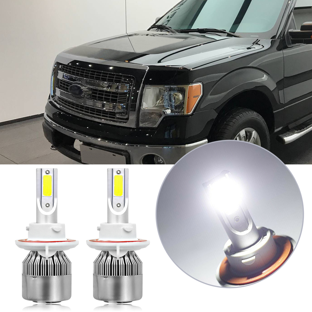 Details About H13 White Led Headlight Kit For Ford F150 2004 2014 F250 F350 Super Duty 05 2018