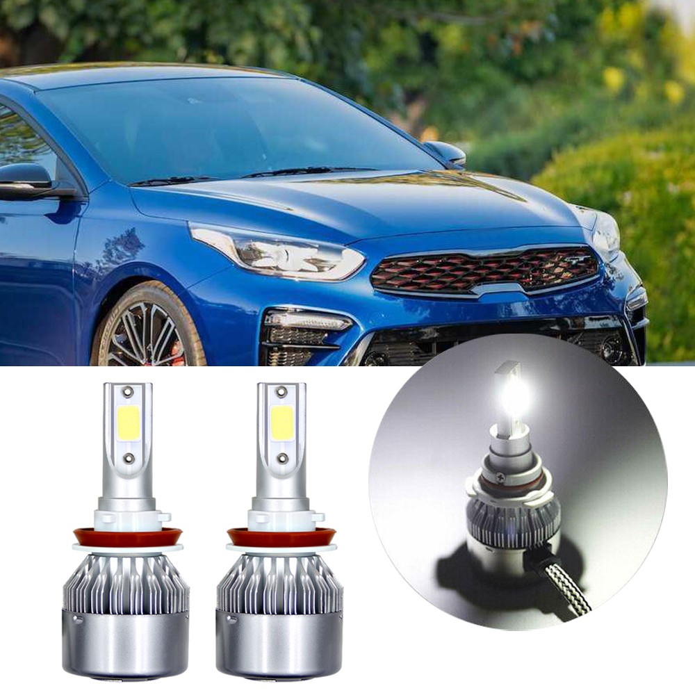 For Kia Forte Optima 2007 2017 H11 Led Headlight Bulb Low Beam