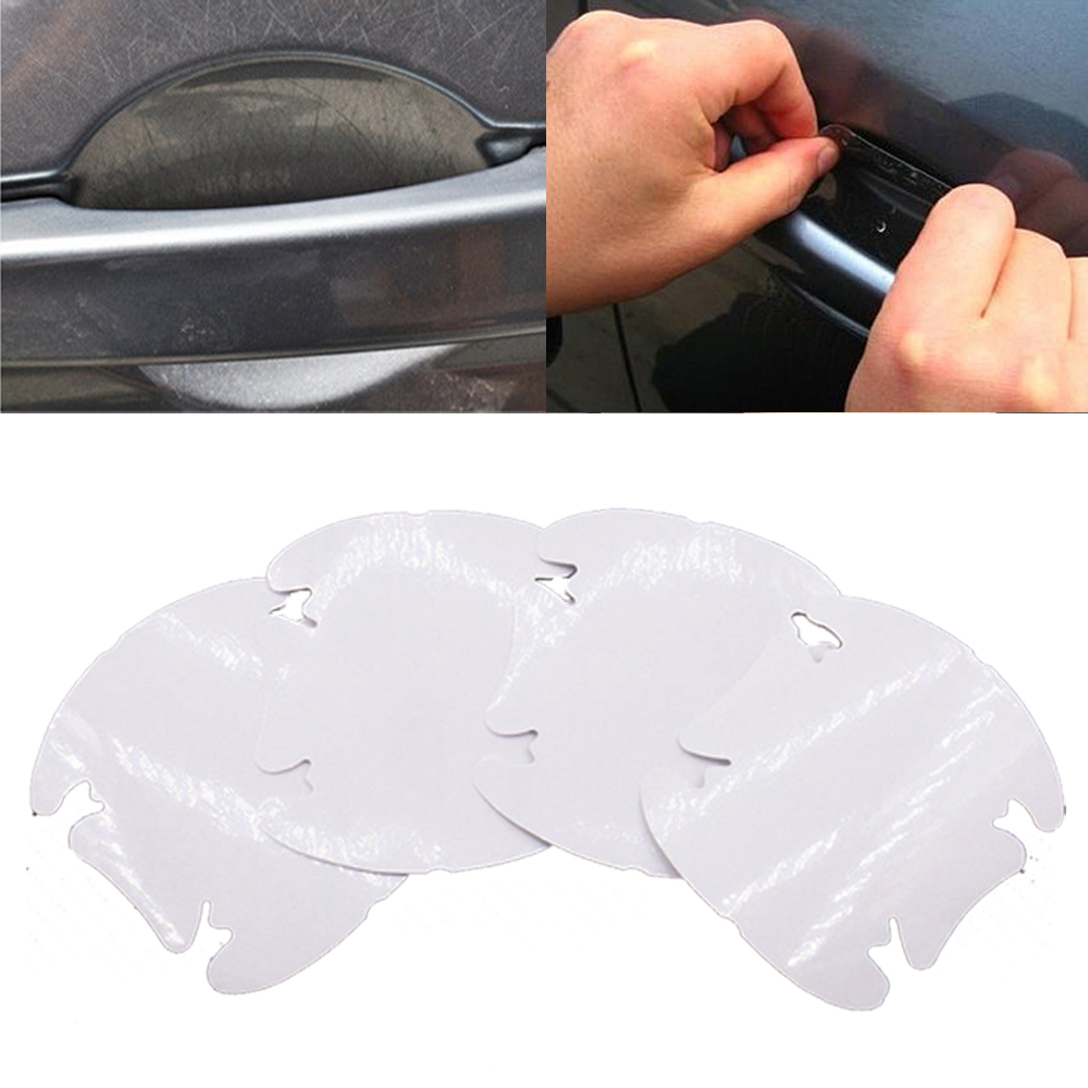 4x new Invisible Clear Car Door Handle Scratch Protector Guard Film Sheet mode