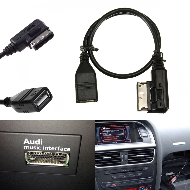 azazaz AB Media in AMI MDI Micro USB Charge Adapter Cable for Car VW Audi 2014 A4 A6 Q5 Q7 /& Mobile Phone Tablet