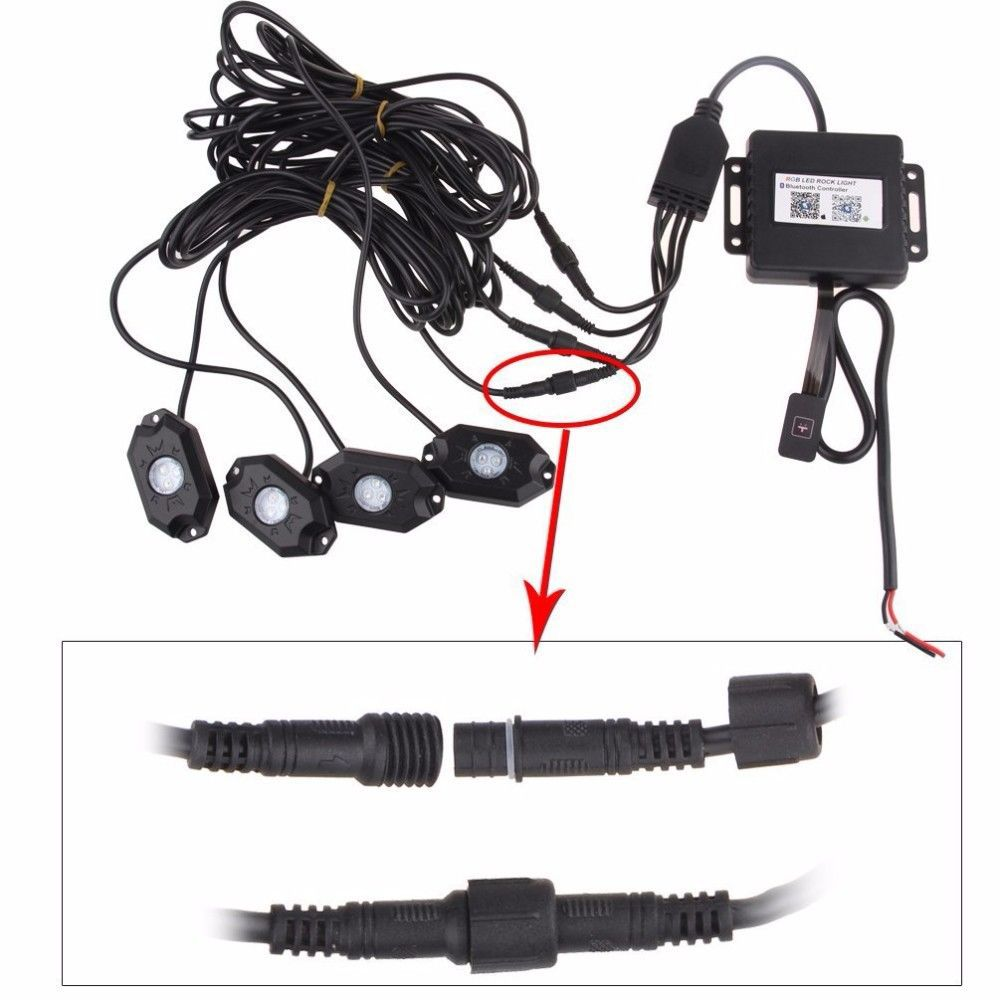 Bluetooth 40 Led Boat Interior Marine Deck Lights Rgb Changing Wiring Cabin Accent Pod Kit