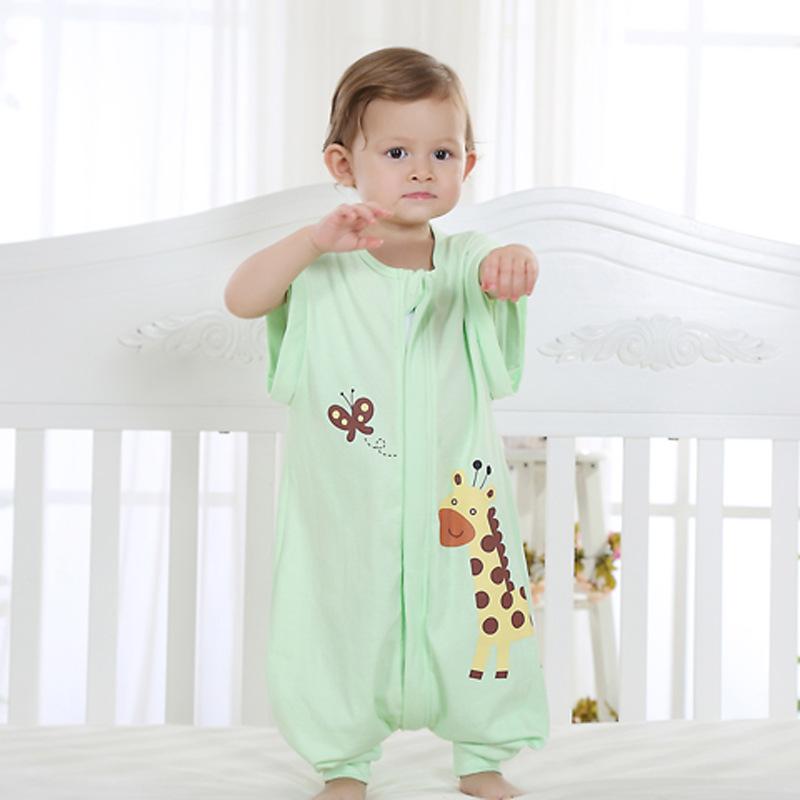 baby sommer schlafsack mit beinen abnembar langarm kinder strampler schlafanzug ebay. Black Bedroom Furniture Sets. Home Design Ideas