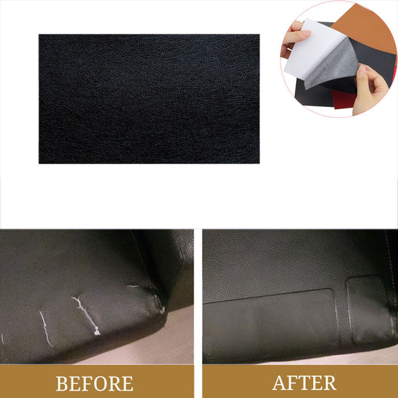 5x universal autositz flicken reparatur pu leder 20x10cm. Black Bedroom Furniture Sets. Home Design Ideas