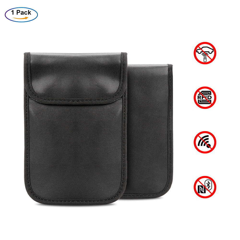 RFID Signal Blocking Anti-theft Keyless Entry Car Remote Key Pouch Case Bag
