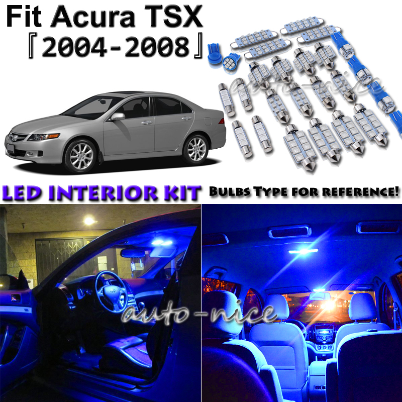 10x Blue LED Interior Lights Package Kit For 2004 2005