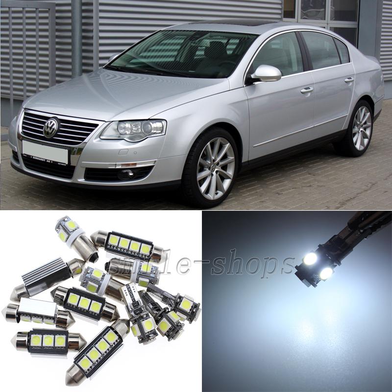 VW VOLKSWAGEN PASSAT B6 ERROR FREE BRIGHT XENON WHITE LED INTERIOR LIGHT SET