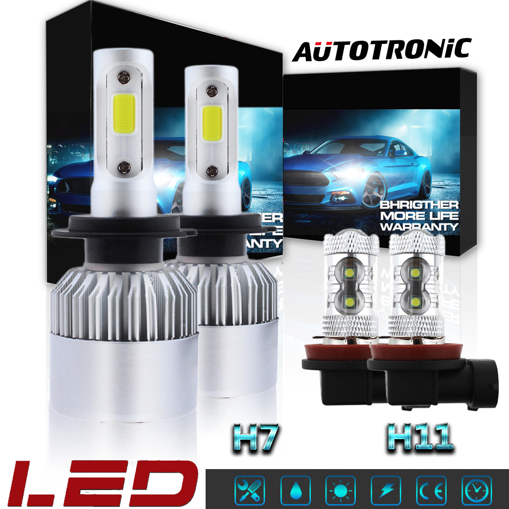 Details about 4PCS H7 + H11 Combo LED Headlight Bulbs Hi/Low Beam 6000K For  Ford Fusion 06-17