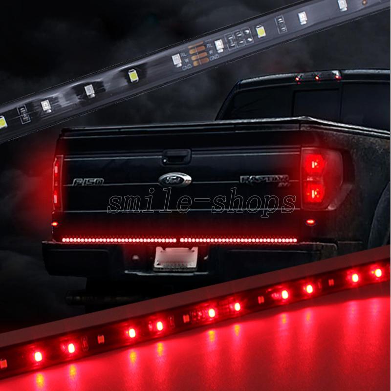Details About 60 Led Tailgate Light Bar Strip White Reverse Red Tail Gate Brake Turn Signal