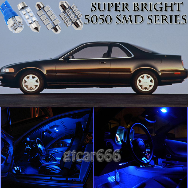 14X Bright SMD Blue LED Interior Light Package Kit For 91